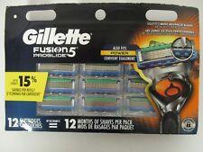 12 GILLETTE FUSION 5 PROGLIDE REFILL CARTRIDGES - NEW & SEALED - BK 361R