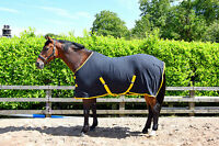 HORSE/PONY FLEECE RUG black or navy all sizes travel stable fleece show