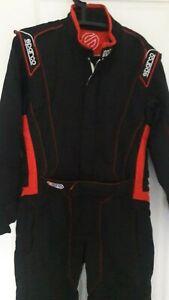 Rennoverall Sparco Victory (schwarz/rot) Größe 54 #6, gültige FIA Norm,