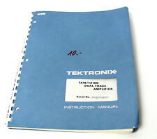 TEKTRONIX Manuel pour 7a18/7a18n 2 canaux-Amplificateur-indentation, 7000er oscilloscope