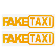 2 Pcs Fake Taxi Sticker Yellow Drift Sign 20x5cm Race Car JDM Vinyl Decal Decal