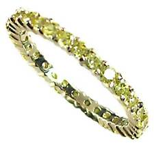 PRONG SET_NARROW_YELLOW CZ ETERNITY BAND RING_SZ-6__925 STERLING SILVER-NF