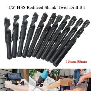 METAL HSS DRILL BITS REDUCED SHANK DRILL BIT 12mm-22mm For Steel Wood Machining