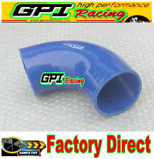 """Silicone 90 Degree Elbow Connector Turbo Hose Pipe 76mm/ 3"""" inch Intercooler bl*"""