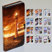 For LG Series - Lighthouse Tower Theme Print Wallet Mobile Phone Case Cover #2