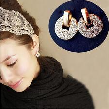 Vintage Women Earring Elegant Crystal Rhinestone Ear Stud Earrings Party Jewelry