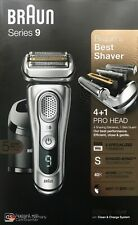 Braun Series 9 9390cc Men's Electric Shaver Wet/Dry Clean Renew Charger - SILVER