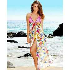 BRAND NEW BEACH BUNNY BIKINI PARADISE FLEUR SILK MAXI MEDIUM LARGE COVER UP