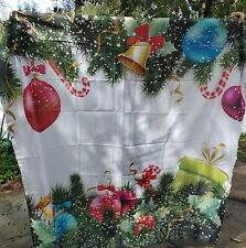 "Positive Home ""Artisi Var"" Christmas Ornament Shower Curtain with Hooks - New"