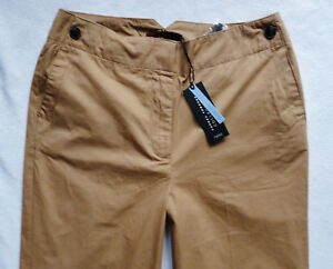 BNWT NEXT camel beige casual cotton spring summer wide slouch trousers lengths