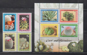 Philippine Stamps 2003 Cacti & Succulents Plans Block of 4 & ss Complete MNH