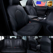 Car Custom Fit Leather Seat Covers Cushions Full Set For Toyota Camry 2018 2021