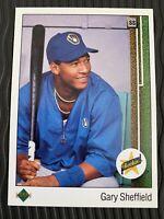 1989 Upper Deck Gary Sheffield Rookie Card #13