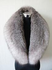 100% real fox fur collar/ wrap /scarf unisex collar natural gray collar 100*18cm