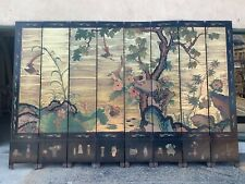Chinoiserie Oriental 8 Panel double sided gold screen folding room divider