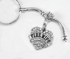 Fire wife key chain firewife key Firemans wife gift fire wife present best fire
