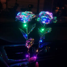 2 Sets LED Light Crystal Rose Flower Kit for Anniversary Valentine's Day