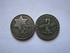 1943 ERA JUDE JEWISH 2 MARK 1943 GETTO POLAND, Fantasy Coin Medal