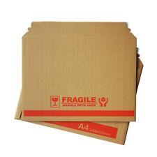 100x Rigid Mailer - eFlute Brown A4 240x330mm Document Hard Envelope Photo Film