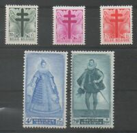Timbres de Belgique / Belgium ref COB N° 787 --> 791 Neuf **,  MNH