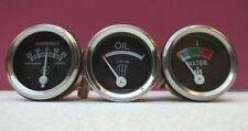 "IH / Farmall H,M,I4,I16, I19,O4,OS4,W9, Super MD,WD9 Gauges-Temp 24"" Oil Amp"
