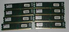 LOT 8X 2GB (TOT16GB) KINGSTON KVR667D2D4P5 2RX8 DDR2 ECC 9965292-005.A02LF RAM