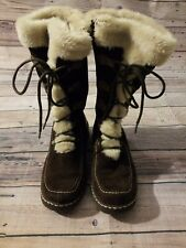 Womens Bare Traps leather winter boots - Baylee  faux fur - size 7M