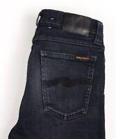 Nudie Jean Hommes Haut Kai Slim Jeans Extensible Taille W30 L32 AVZ1618