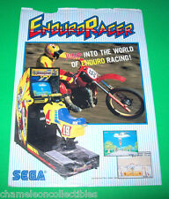 ENDURO RACER By SEGA 1986 ORIGINAL VIDEO ARCADE GAME PROMO SALES FLYER