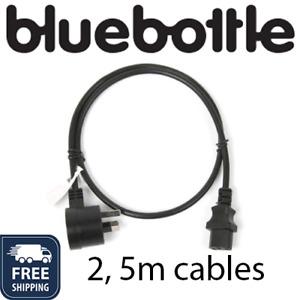 IEC Piggy Back Ext Lead - 240v 1m, 5m- Black power cable kettle