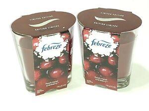 2 Febreze Candles Fresh Twist Cranberry Limited Edition Scent 6.3 oz ea - 2 wick