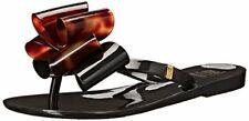 Mel By Melissa Harmonic Bow Tortoise Brown Jelly Flip Flops sz 1 Girl Sandals