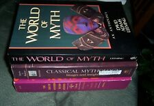 Lot 3 Mythology Books; World of Myth +Classical Mythology : 1559348267; 0253201