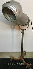 ANTIQUE c1920 EMIL J PAIDAR FLOOR MODEL HAIR DRYER CAST IRON 3 LEG PEDESTAL BASE