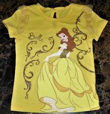 """NEW"""" Disney Princess ~ BELLE Beauty & Beast ~ GLITTER SHIRT Girl Sz 18M 18 Month"""