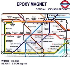 TRANSPORT FOR LONDON UNDERGROUND MAP MAGNET  (Underground Official Licence)
