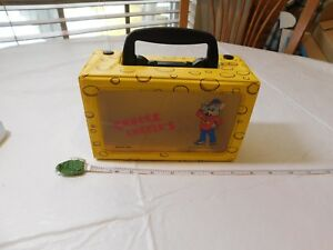 Chuck E Cheese's Cheese RARE box 1995 Showbiz Pizza Time pencils crayons yellow