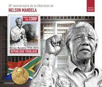 Togo Nelson Mandela Stamps 2020 MNH Liberation People Nobel Prize 1v S/S