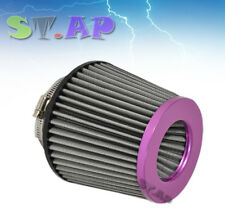 "Universal 4"" Inch Dry Short Ram/Turbo/Cold Air Flow Intake Filter Purple Black"