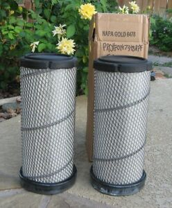 Two NAPA 6478 Gold Tractor Air Filters New Condition Caterpillar Massey Ferguson