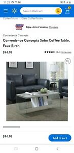 Convenience Concepts SoHo Coffee Table in Faux Birch