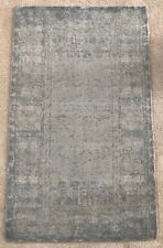 Pottery Barn Kailee Printed Rug - Porcelain Blue 3x5 Hand-Tufted Handwoven Wool