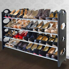 20 Pair 4 Tier Shoe Tower Rack Organizer Space Saving Shoe Rack Stainless Steel
