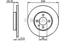 1x BOSCH Disco de freno delantero Pleno 256mm Para SEAT INCA 0 986 479 B30