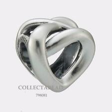 AUTHENTIC Pandora Sterling Silver Knotted Heart Bead 798081