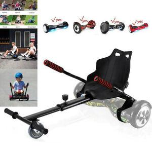 Black Hoverkart Go Kart for Hoverboard Self Balance Scooter Hover Cart Board