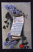 Vintage Coloured Postcard - ALL BIRTHDAY JOYS - Written 1915 - Sweet Verse