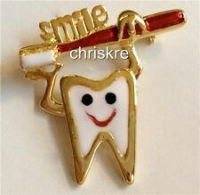 Dentist Hygienist Tooth Pin Brooch Dental Assistant Toothbrush Graduation Gift