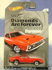 MATELL HOT WHEELS JAMES BOND 007 1971 FORD MUSTANG MACH 1 DIAMONDS ARE FOREVER