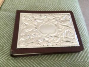 Vintage Sterling  Silver And Leather Album